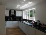black & white fitted kitchen